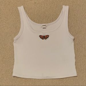 White butterfly tank top from Garage!!